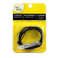 Black Leather Cord Kit & Findings, 1mm
