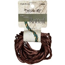 Dazzle-it! Rattail Cord, 1.5 mm Light Chocolate