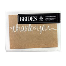 Brides Sweetheart Kraft Thank You Cards, Box