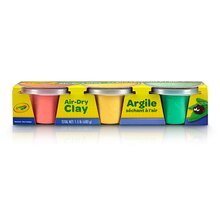 Crayola Air Dry Clay Pastel Colors, 3 Count