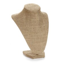 Darice Bust Necklace Stand, Burlap