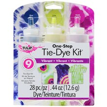 Tulip One-Step Tie-Dye Kit, Vibrant Colors, Packaging