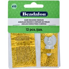 Beadalon Hard Beading Needles, Size 10