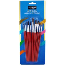 Sargent Art Natural Hair Paint Brush Assortment, 10 Count