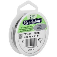"Beadalon 7 Strand Bright Bead Stringing Wire, 0.15"", 100 ft."