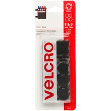 VELCRO Brand STICKY BACK Coins and Squares, Value Pack, Black, New Packaging