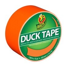 Color Duck Tape Brand Duct Tape, Neon Orange