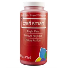 Craft Smart Acrylic Paint, 16 oz., Bright Red