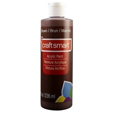 Craft Smart Acrylic Paint, 8 oz. Brown Swatch