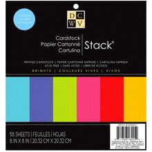 DCWV Brights Cardstock Stack
