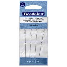 Beadalon Collapsible Eye Needles, 2.5""