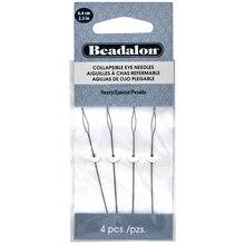"Beadalon Collapsible Eye Needles, 2.5"""