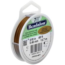 Beadalon 7 Strand Bead Stringing Wire, Gold Color