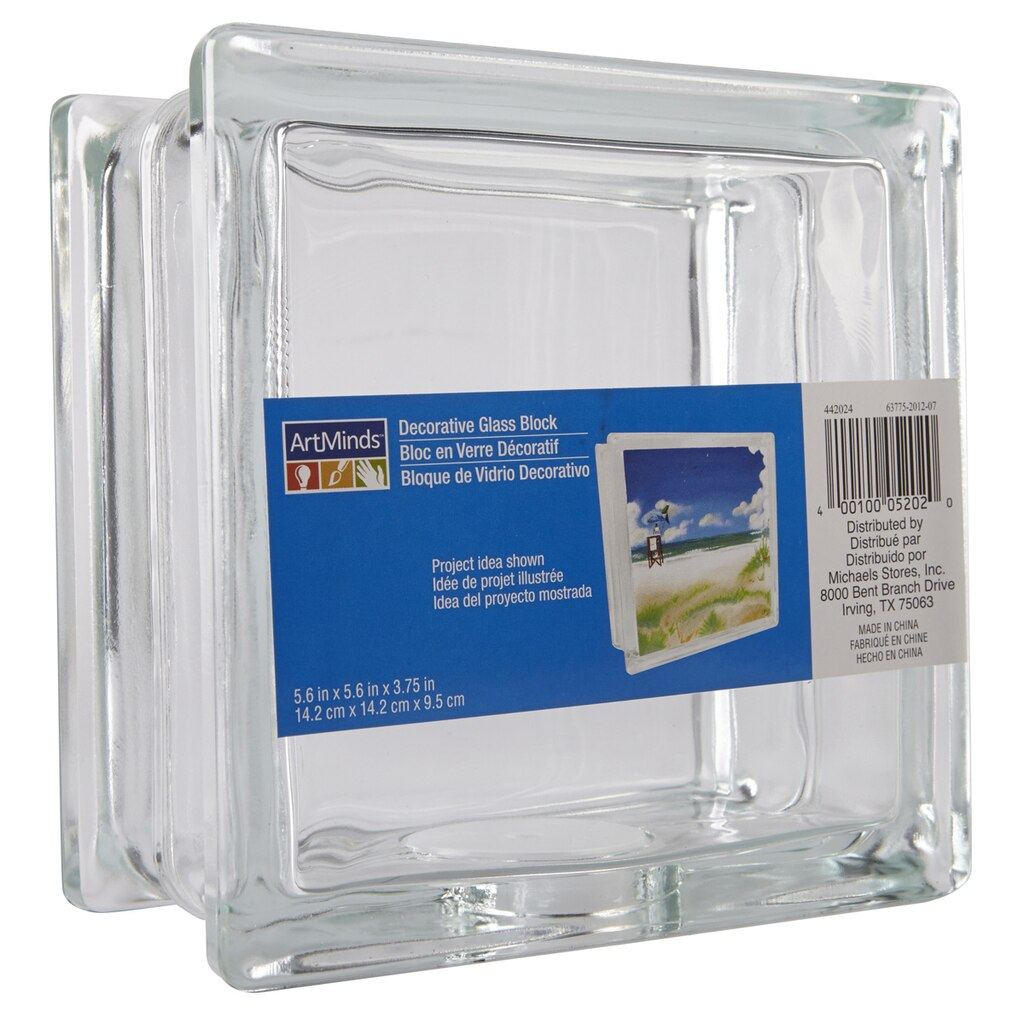 Artminds decorative glass block 5 6 x 5 6 x for Glass block options