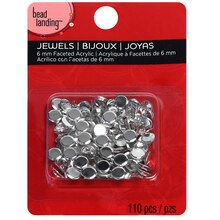 Bead Landing Clear Round Acrylic Jewels, 6mm