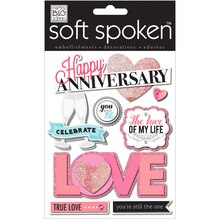 MAMBI Soft Spoken Embellishments, Happy Anniversary