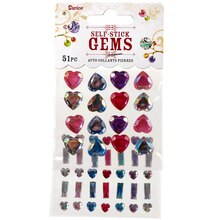 Darice Self-Stick Gems, Crystal Hearts and Bars
