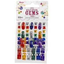 Darice Self-Stick Gems, Crystal Ovals and Rectangles