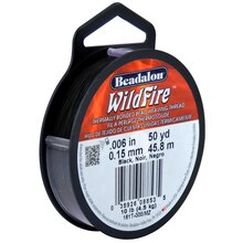 "WildFire Bead Weaving Thread, 0.006"", Black"