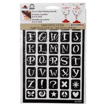 FolkArt Peel & Stick Painting Stencils, Fun Alphabet