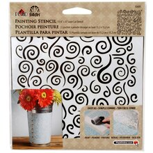 FolkArt Small Painting Stencil, Swirl Background
