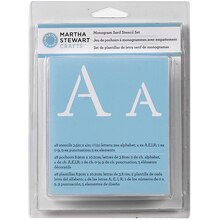 Martha Stewart Crafts Alphabet Stencil Set, Monogram Serif