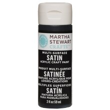 Martha Stewart Crafts Multi-Surface Satin Acrylic Craft Paint, Beetle Black