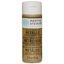 Martha Stewart Crafts Metallic Acrylic Paint, Gold