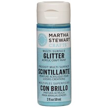 Martha Stewart Crafts Multi-Surface Glitter Acrylic Craft Paint, Turquoise