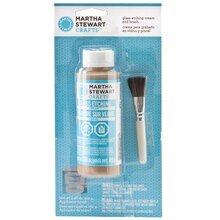 Martha Stewart Crafts Glass Etch Cream & Brush