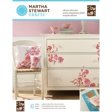 Martha Stewart Crafts Adhesive Silkscreens, Exotic Blossoms, Package View