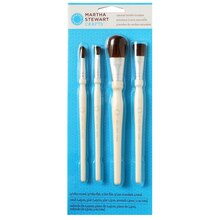 Martha Stewart Crafts Bristle Brush Set, 4 Pc