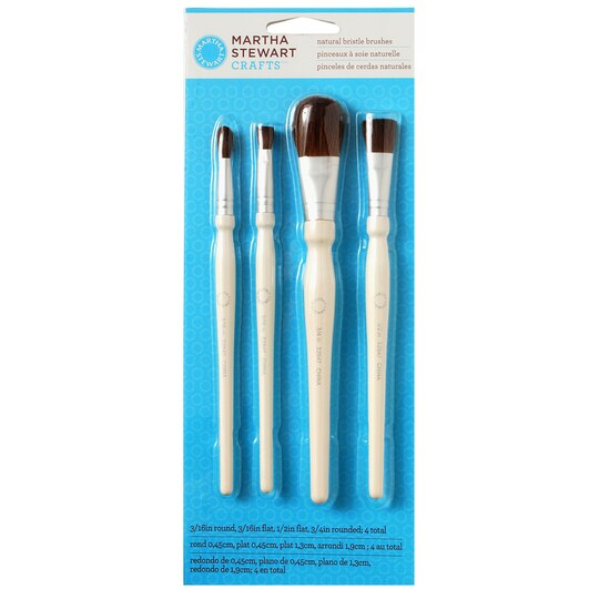 In Round Natural Bristle Paint Brush Michaels