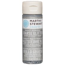 Martha Stewart Crafts Coarse Glitter Acrylic Paint, Sterling