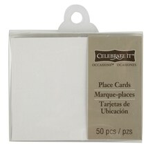 Celebrate It Occasions Place Cards, Embossed, White