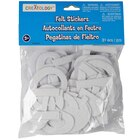 "Creatology Felt Stickers, Letters & Numbers, 2"", White"