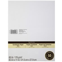"Recollections Cardstock Value Pack, 8.5"" x 11"" White"