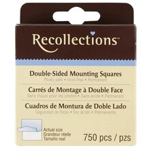 Recollections Double-Sided Mounting Squares, Permanent