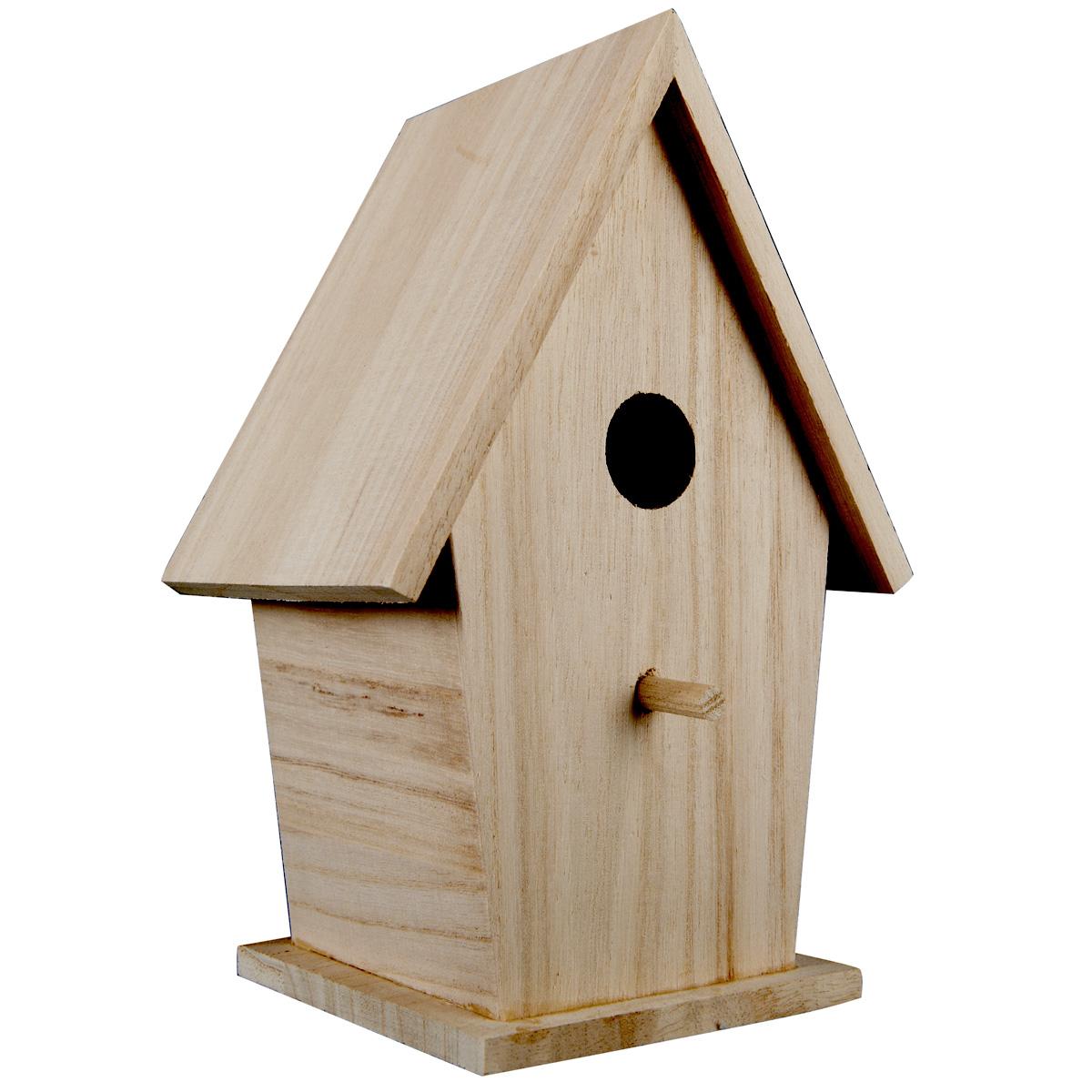 Superb ArtMinds Tall Wood Birdhouse