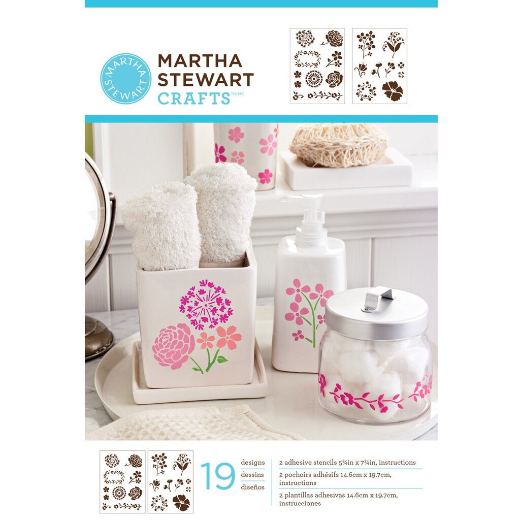 Martha stewart crafts blossoms adhesive stencils for Weekly ad for michaels craft store