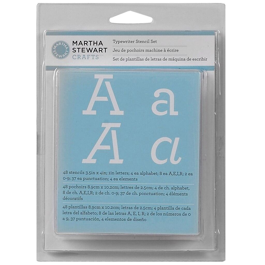 Martha Stewart Crafts Alphabet Stencil Set Typewriter