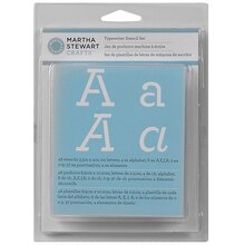 Martha Stewart Crafts Alphabet Stencil Set, Typewriter