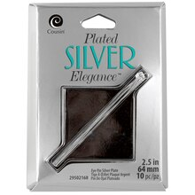Cousin Plated Silver Elegance Eye Pins, 64 mm