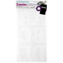 Transfermations Iron-On Flocked Letters, Cooper, White, 3""