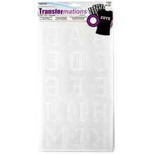 "Transfermations Iron-On Flocked Letters, Collegiate, 3/4"", White"