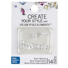 Create Your Style with Swarovski Elements Crystal Spacer Beads, Aurora Borealis 6mm