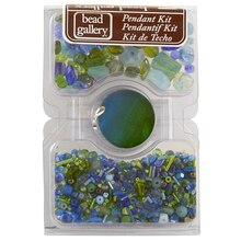 Bead Gallery  Pendant Kit, Blue and Green