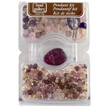 Bead Gallery Pendant Kit, Purple and Pink