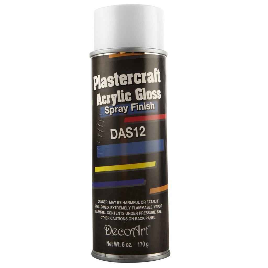 Decoart plastercraft acrylic gloss spray finish for Finishing spray for crafts