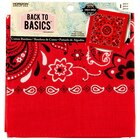 Back to Basics Paisley Bandana, Red